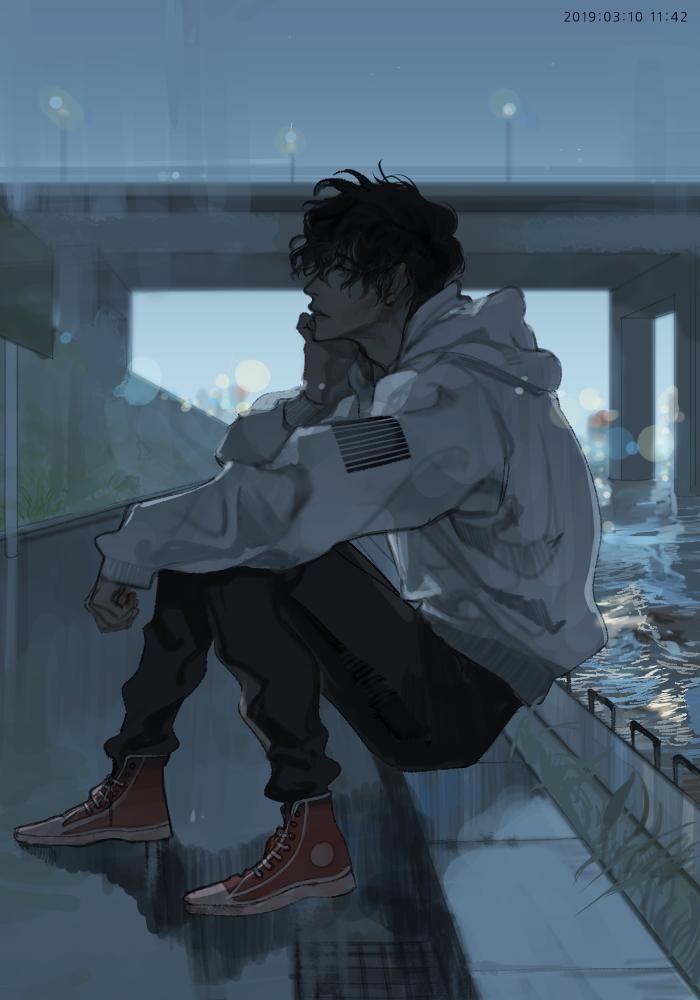 Anime bad boy smoking wallpaper