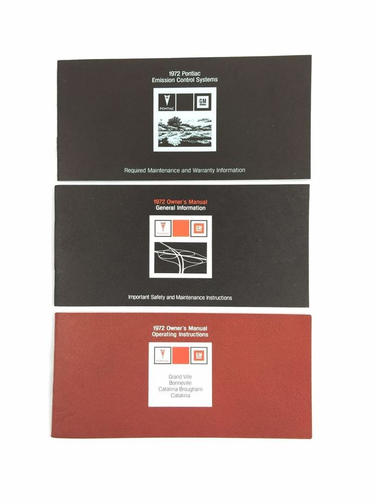 7 best cars owners manual images on pinterest owners manual 1972 gm pontiac owners manuals grand ville bonneville catalina 3 books american muscle carsmanualtextbookuser guide fandeluxe Gallery