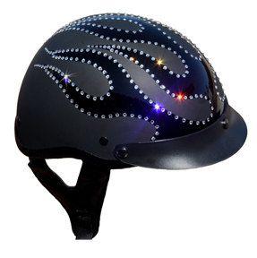 DOT Motorcycle Helmet w/ Swarovski Rhinestones by ZoilasBoutique, $174.00