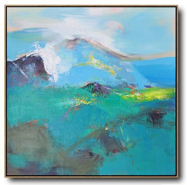 CZ ART DESIGN - Hand Painted Palette Knife Abstract landscape painting canvas art  #L65A.