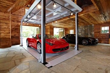 Ultimate man cave and sports car showcase traditional garage and shed