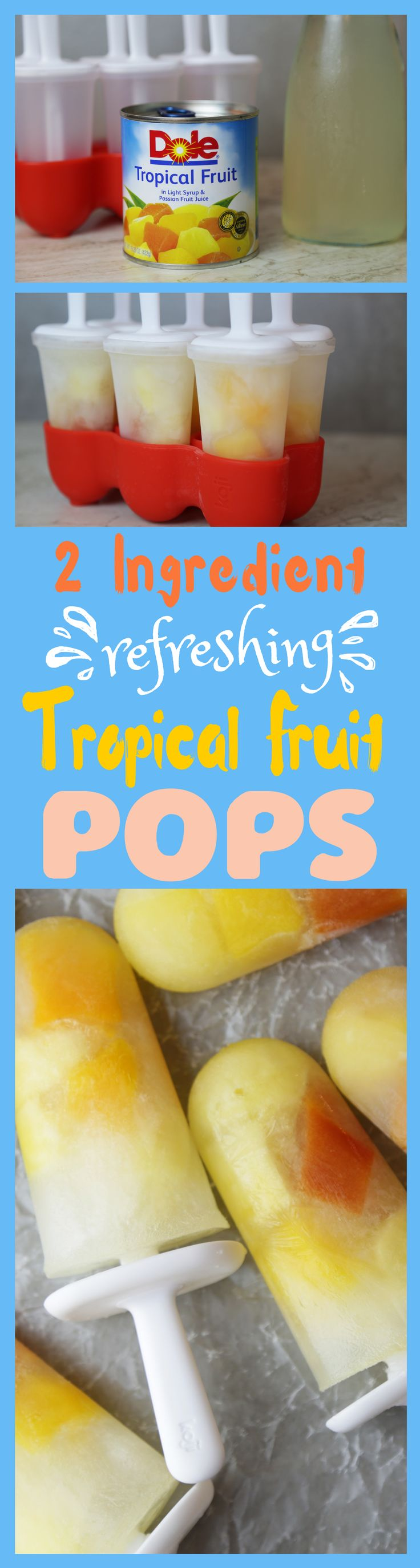 Fruit pop crush game - These Dole Canned Tropical Fruit Popsicles Could Not Be Easier To Make Just Add