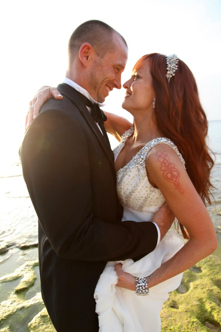 Charley Patterson & his new wife Christy Hemme on their wedding day in Kauai, Hawaii (May 5, 2010)