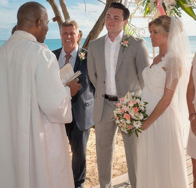 Ray Quinn weds fiancée Emma Stephens as they reveal babyjoy in 2012.