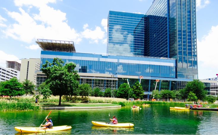 A beautiful photo of Discovery Green, the 12-acre urban ...