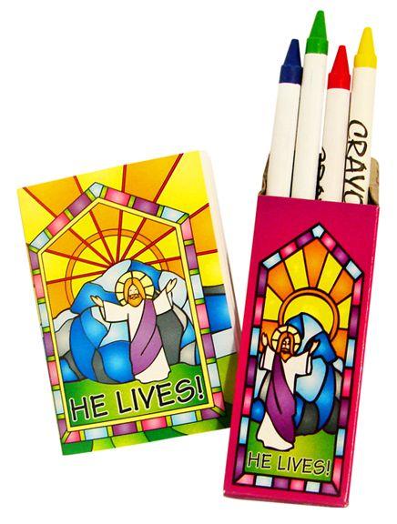 Jesus Lives Christian activity coloring set for kids. | Easter ...