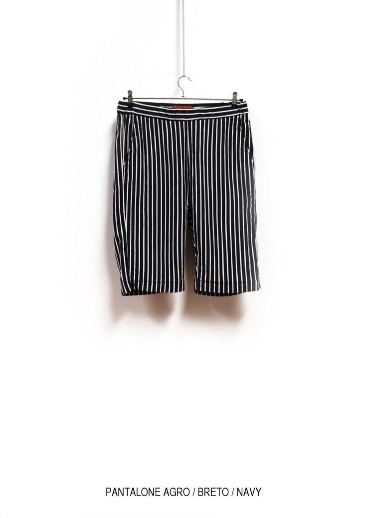 Trousers Agro Breto Navy  www.barenavenezia.com