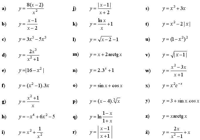 Vyšetri priebeh danej funkcie a načrtni jej graf