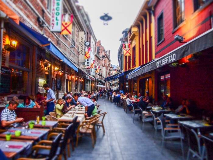 Restaurants on Muntstraat, Leuven