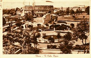 Old postcard of Colle Oppio