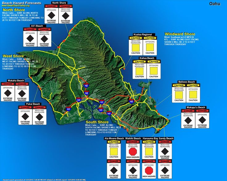 SURF FORECAST - OAHU #Surfing #Hawaii #ハワイ