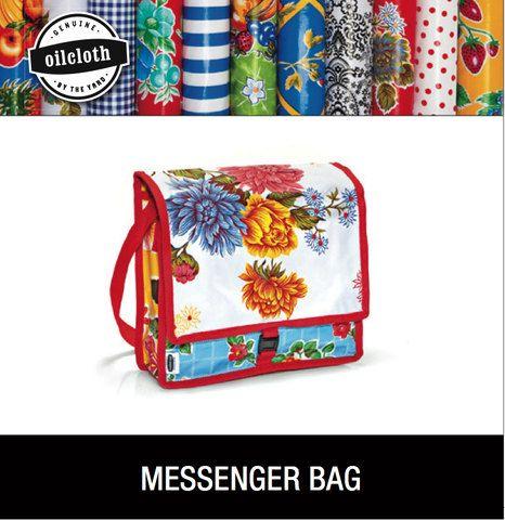 DIY Oilcloth Messenger Bag Kit, etsy