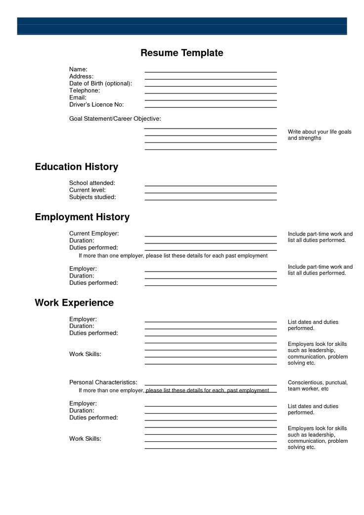 Best 25+ Free printable resume ideas on Pinterest Resume builder - free blank resume template