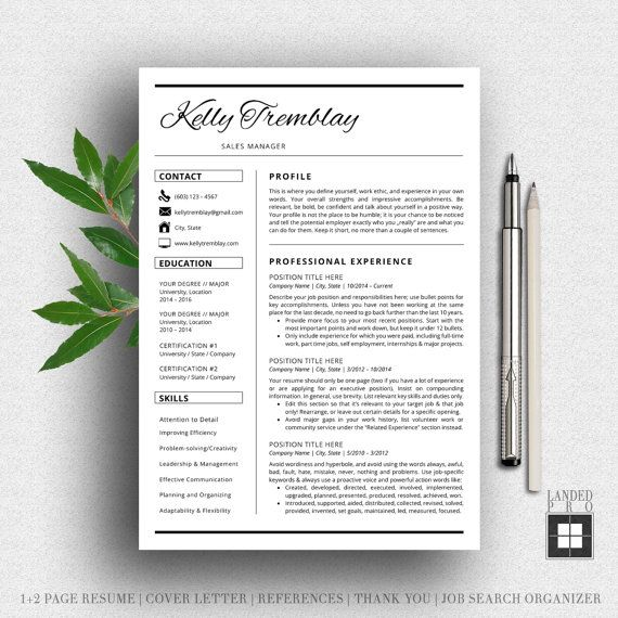 Best Resume Template  Creative Professional Modern Resume