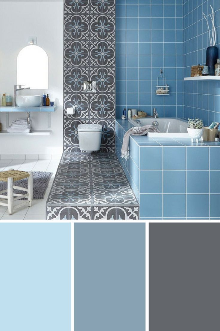 We Love This Combination Of Colors Light Blue Gray Blue And Slate In The Bathroom Find Many Other Decor Ideas With Blue Bathroo Home Staging Vivir La Vida