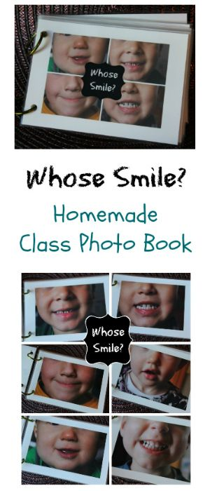 Whose Smile? Preschool Homemade Photo Book - Take photos of family & friends' smiles great recognition game!