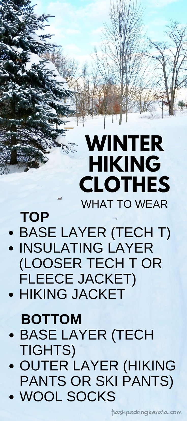 44fe2c544efc0e Best winter hiking clothes for what to wear hiking in cold weather. base  layer