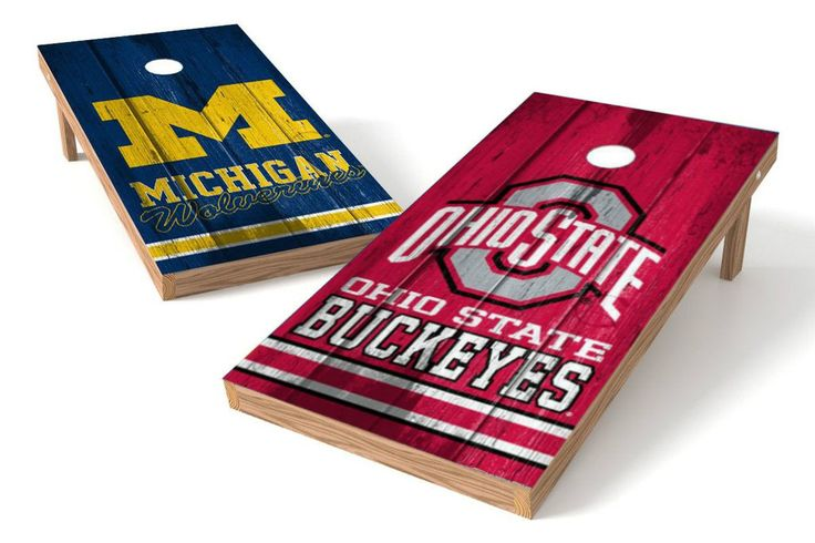 Michigan Wolverines/ Ohio State Buckeyes Rivals Cornhole Board Set