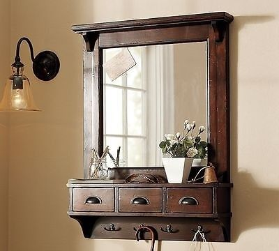 Wall Mounted Coat Rack With Mirror - Foter