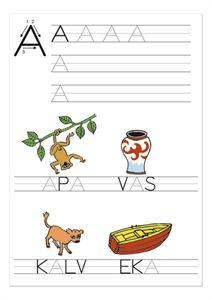 Vi kan läsa och skriva A till Ö - Uppmuntra barnen att skriva alfabetets bokstäver, börja läsa och skriva lite.