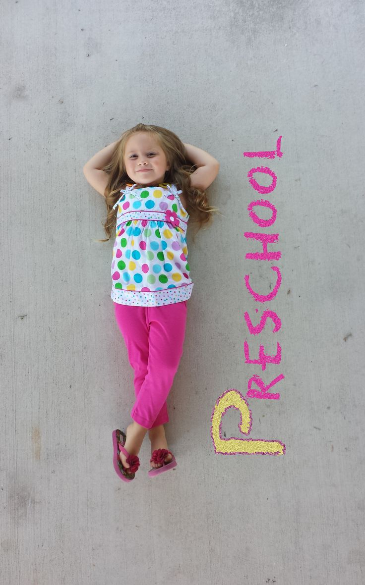 I want to do this with the preschoolers on the first day of school