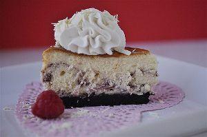 Cheesecake Factory Copycat White Chocolate Raspberry Cheesecake | AllFreeCopycatRecipes.com