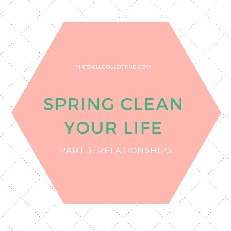 When it comes to Spring Cleaning let's take a closer look today at your  relationships - what types of support does each relationship offer you, and  what type of support do you offer others?