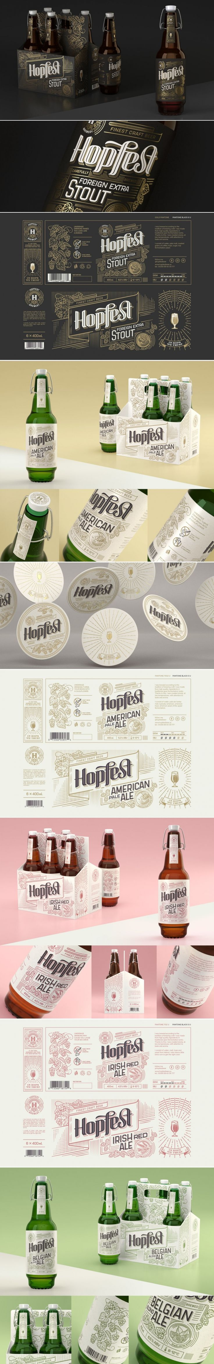This Conceptual Craft Beer Packaging Comes With Beautiful Intricate Illustrations — The Dieline | Packaging & Branding Design & Innovation News