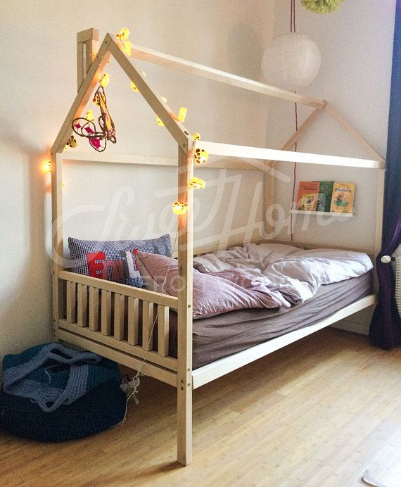 house bed twin size bed house kids nursery wooden house bed montessori - Bed Frame Twin
