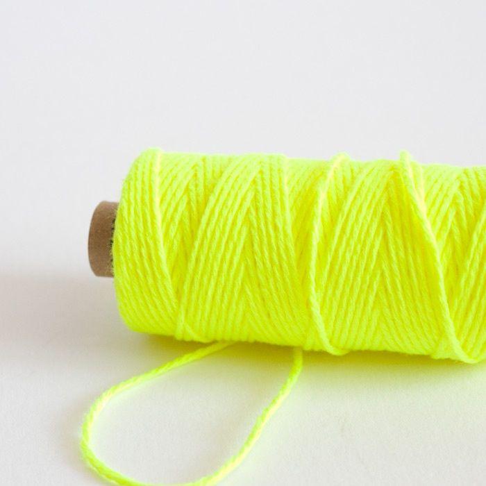 GARN   Bakkerstouw - neon geel