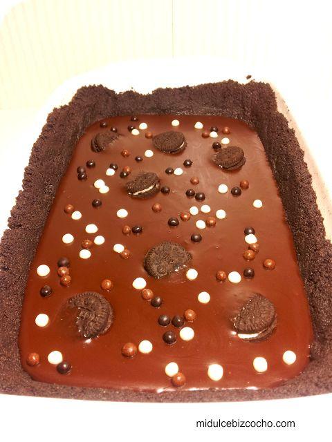 Tarta de Oreo y Chocolate (sin horno). Súper fácil.
