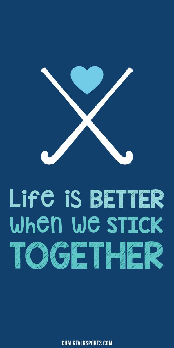 Life is better when we stick together! A quote every field hockey girl should live by. Always play as a team member, and off the field you should always support your teammates! We now offer this design in a beach towel exclusively from ChalkTalkSPORTS.com! More