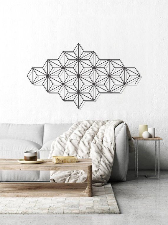 Geometric Wall Art Minimalist Wall Art Metal Wall Art Interior
