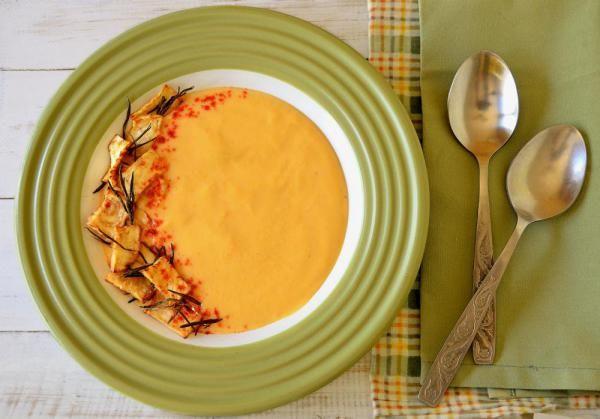 Крем-суп из батата и сельдерея