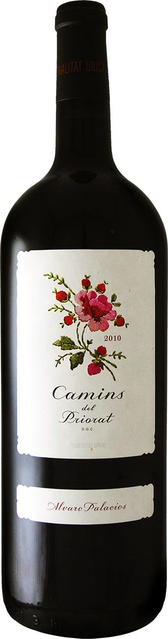 Beautiful embroidered wine label