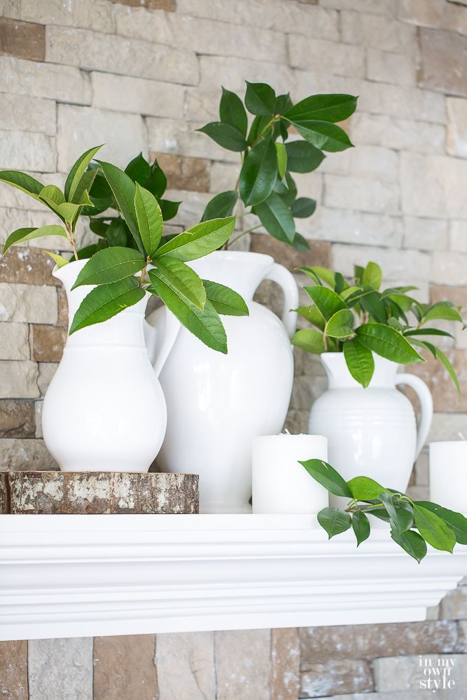 Decorating ideas using the color greenery
