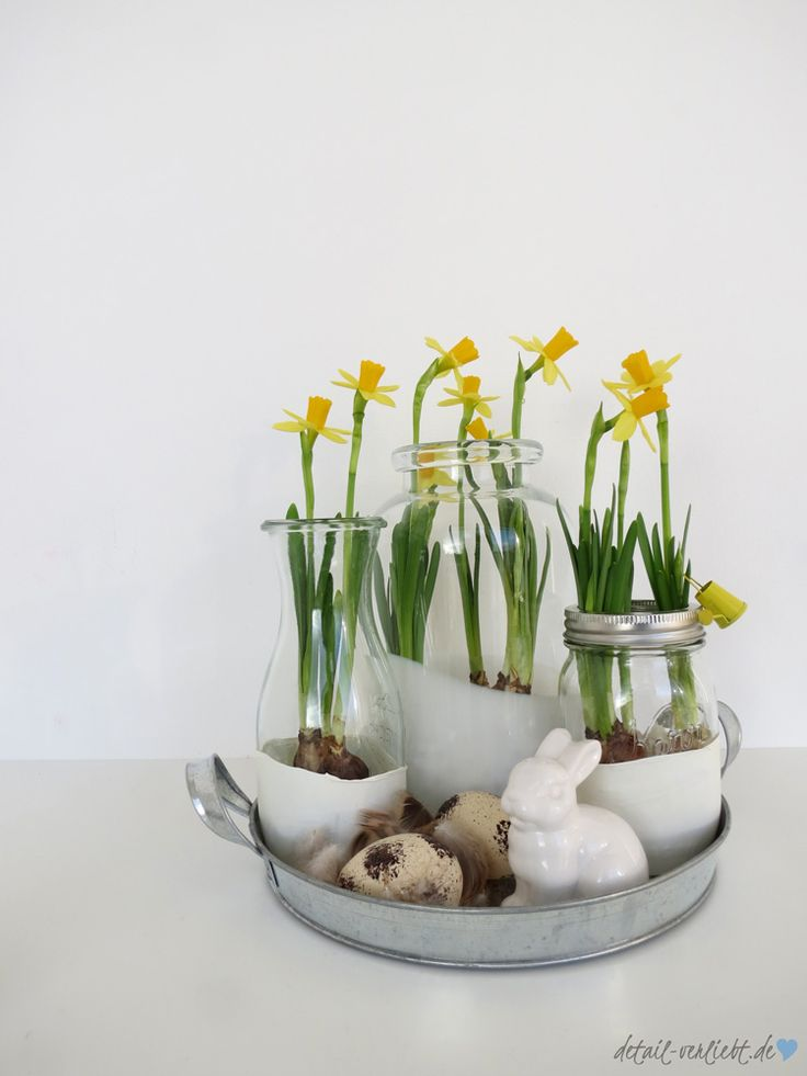 Die besten 25 narzissen deko ideen auf pinterest basteln fr hling leicht osterhasen aus - Deko kitchen ostern ...