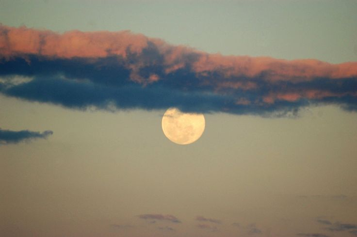 SUPER MOON WITH CLOUD