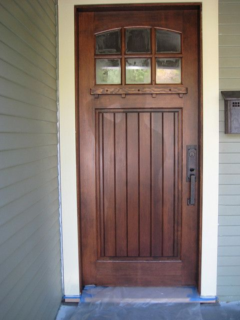 A New Douglas Fir Front Door Front Doors Craftsman