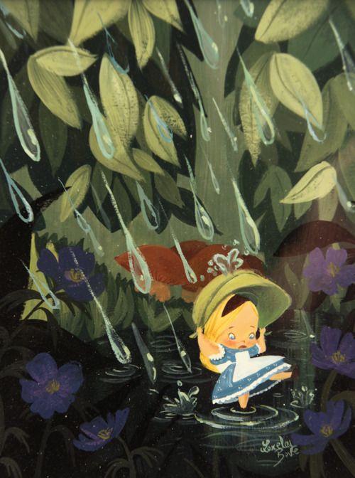 bittersweetart:  Alice in the Rain by Lorelay Bove
