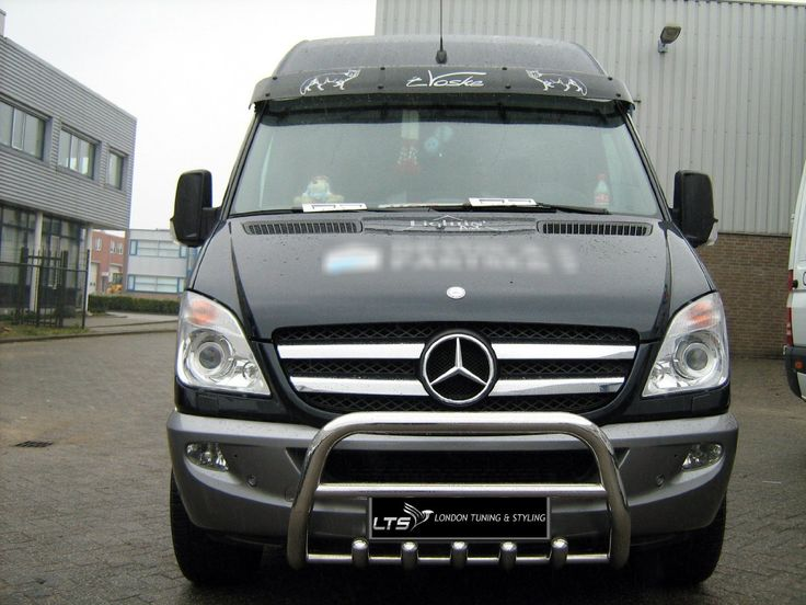 Mercedes Sprinter W906 Stainless Steel Chrome Nudge A-Bar, Bull Bar 2006 - 2013: Amazon.co.uk: Car & Motorbike