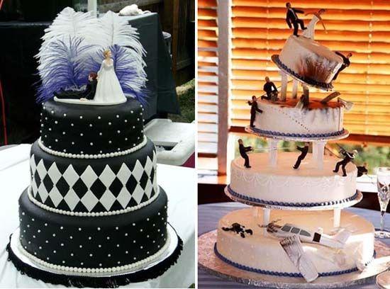 Свадьба в стиле Чикаго 30-х - торт