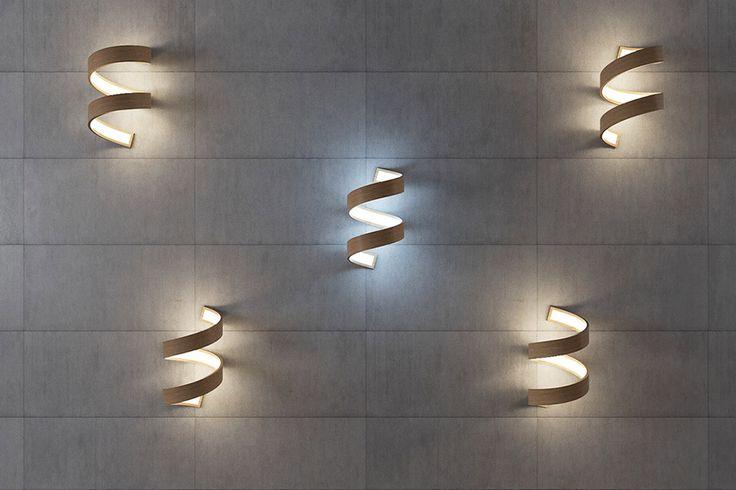 Настенные светодиодные светильники из дерева, бра, фото http://goodroom.com.ua/mag/spiralnye-svetilniki-ot-andreya-kovalskogo/ #Interiors #lighting #lamp #design #Ukraine