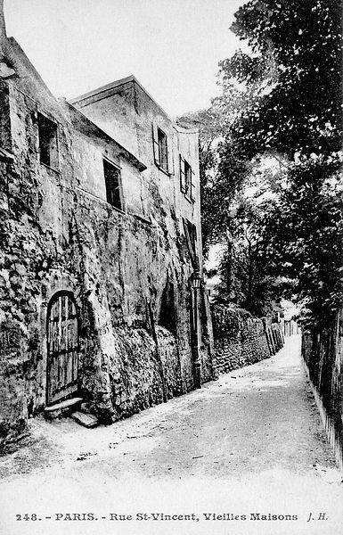 Rue Saint Vincent Paris 18ème