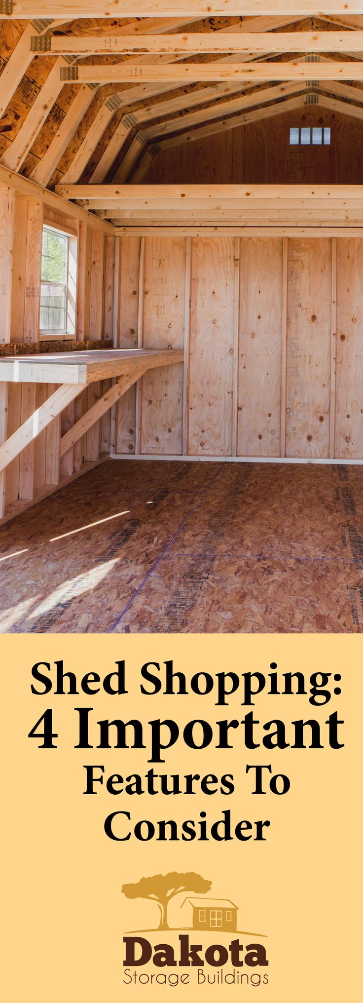 If you're looking to expand your outside storage space, consider one of our customizable sheds. We have top-of-the-line sheds with high-quality features that won't cost you a bundle.