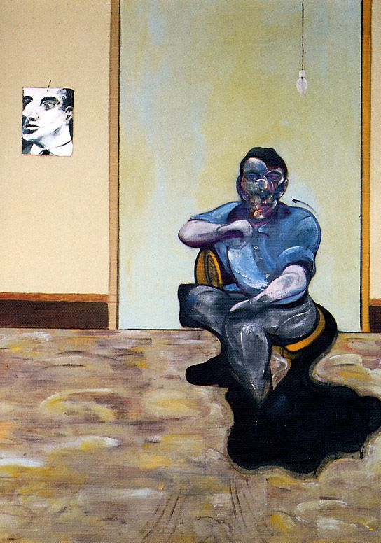 Portrait of  Lucian Freud (1922-2011) by Francis Bacon 1909-1992) ca. 1973