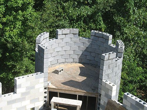 25 best images about my doomsday castle on pinterest the for Cinder block cabin