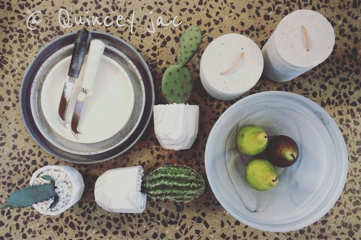 #concrete #marble #cactus #entertaining #kitchen #plants #gifts #homedecor #quinceyjac