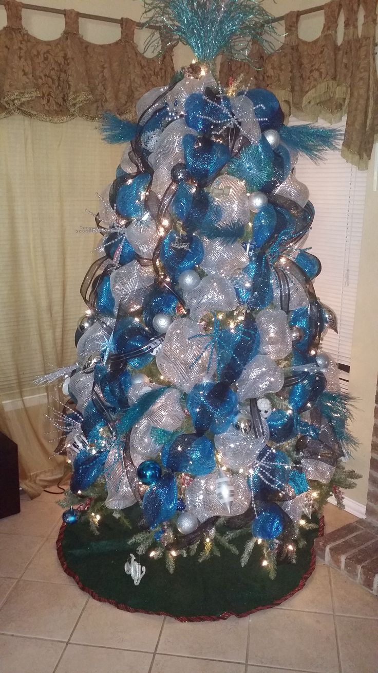 Beautiful Christmas Tree D 233 Cor By Me Turquoise And