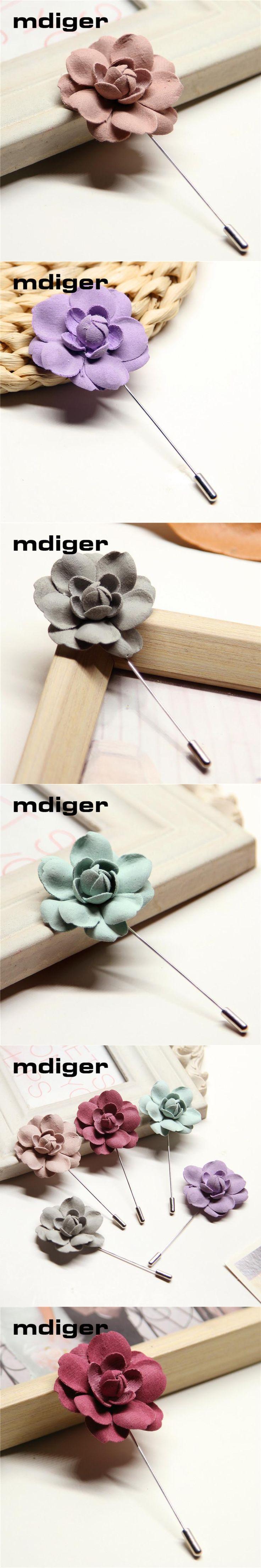 Mdiger Brand Mens Lapel Pin Flower Wedding Brooch Bouquet for Men Handmade Brooches Christmas Gift